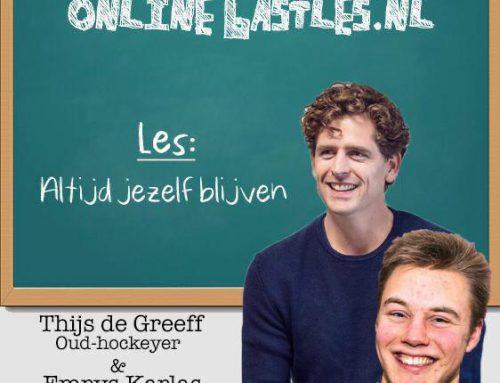 JBF-vrijwilliger Thijs de Greef via online gastles in gesprek over altijd jezelf blijven
