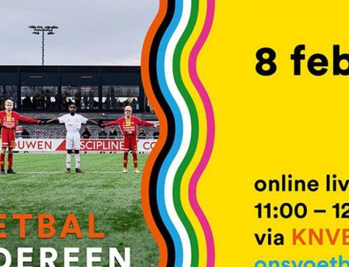 Online live uitzending over Ons voetbal is van iedereen op maandag 8 februari om 11.00